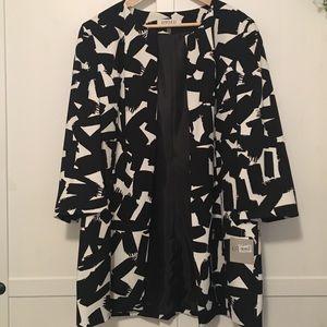 B&W patterned blazer
